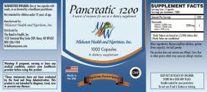 Pancreatic 1200 capsules 1000