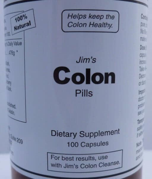 What does a colon cleanse pill do