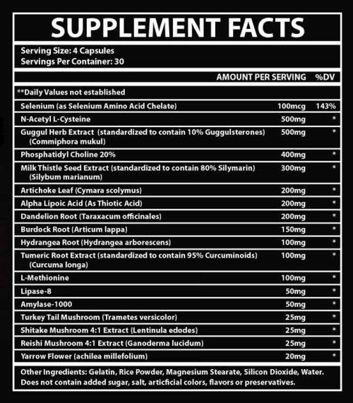 liverite-supplement-facts